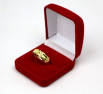 Aliança AMORC Giratória Saturno Folhada a Ouro 18k