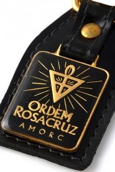 Chaveiro com emblema AMORC